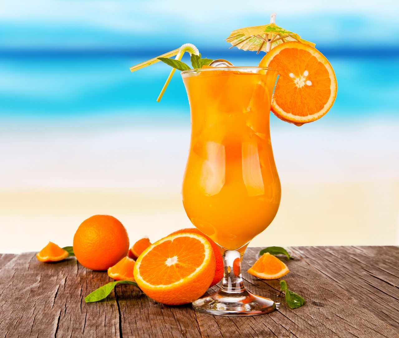The top five healthiest tropical fruits to protect you for Orange and blue cocktails