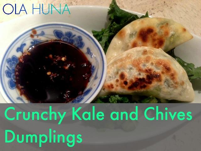 Crunchy Kale and Chives Dumplings2